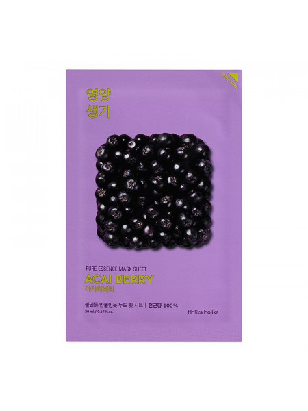 Витаминизирующая маска Pure Essence Mask Sheet Acai Berry, ягоды асаи