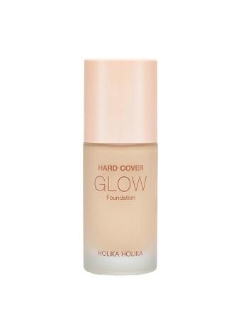 Увлажняющая тональная основа Hard Cover Glow Foundation 03 Sand Ivory, бежево-кремовый