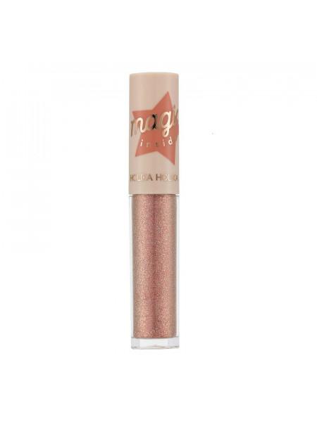 Мерцающие жидкие тени Eye Metal Glitter 09 Peach Crush, розовый