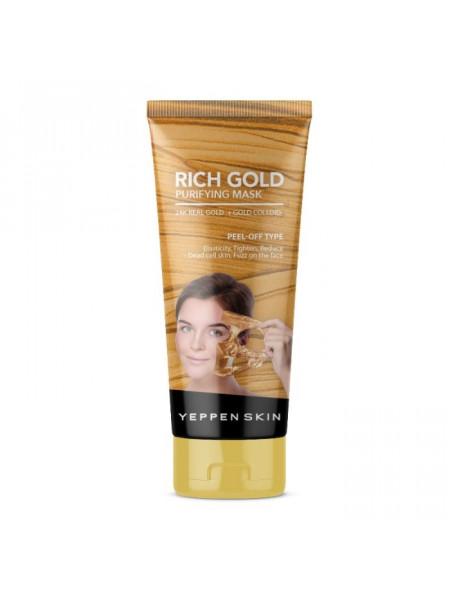 Золотая маска-пленка с лифтинг-эффектом Rich Gold Purifying Mask -Peel-off Type