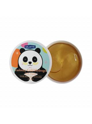 Гидрогелевые патчи для глаз с коллоидным золотом Milatte Fashiony Gold Hydrogel Eye Patch