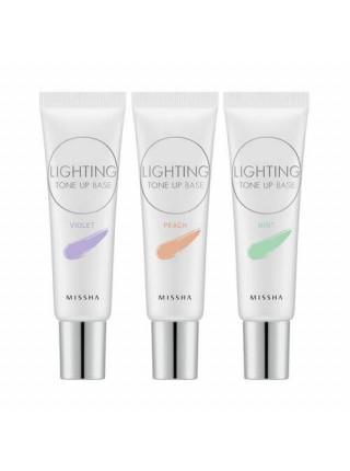Корректирующая основа под макияж  MISSHA Lighting Tone Up Base SPF30 PA++ MINT
