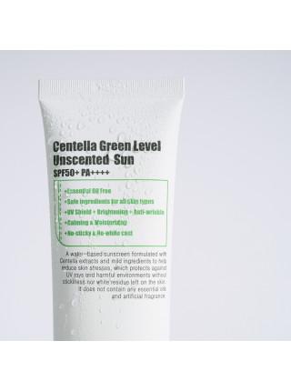 Cолнцезащитный крем с центеллой PURITO Centella Green Level Unscented Sun SPF50+PA+++