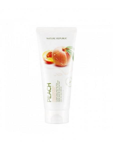 Персиковая пенка для умывания Nature Republic Fresh Herb Peach Cleansing Foam