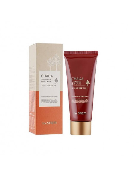 Антивозрастной крем для шеи экстрактом гриба Чага The Saem Chaga Anti-wrinkle Neck Cream