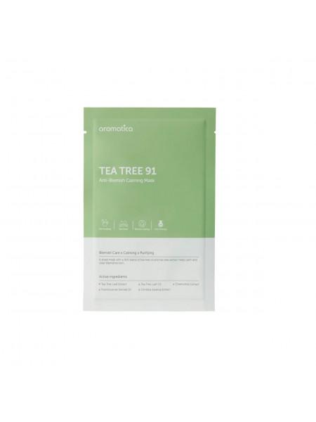 Антибактериальная тканевая маска для проблемной кожи AROMATICA Tea Tree 91 Anti-Blemish Calming Mask