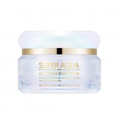 Missha Super Aqua Cell Renew Snail Crem регенерирующий крем для лица