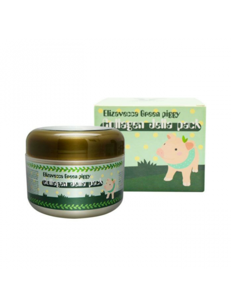 Коллагеновая маска-желе для лица с лифтинг-эффектом Green Piggy Collagen Jella Pack