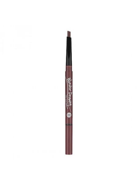 Авто-карандаш для бровей с щеточкой Holika Holika Wonder Drawing 24hr Auto Eyebrow