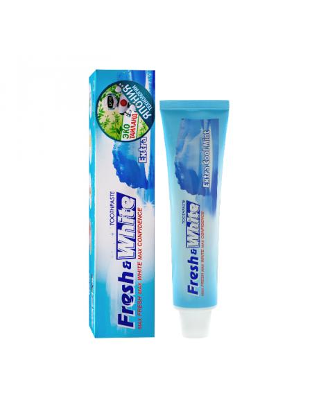 Отбеливающая зубная паста, супер прохладная мята Fresh & White