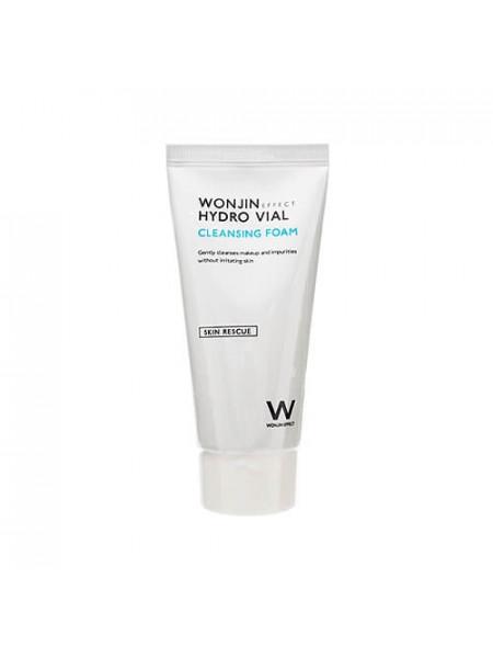 Увлажняющая пенка с экстрактом инжира Wonjin Effect Hydro Vial Cleansing Foam