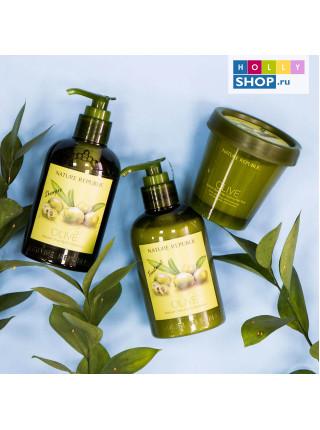 Охлаждающая оливковая маска для волос и кожи головы Nature Republic Natural Olive Scalp Cooling Hair Pack