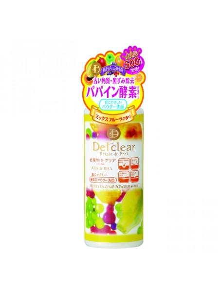 Пудра для умывания с эффектом пилинга Detclear AHA&BHA Fruits Enzyme Powder Wash