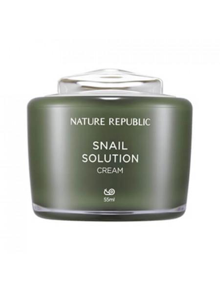 Антивозрастной крем для лица с муцином улитки Nature Republic Snail Solution Cream
