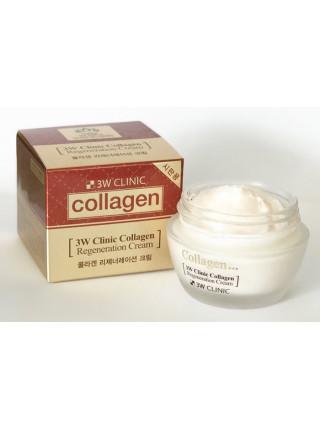 Восстанавливающий крем для лица с коллагеном 3W CLINIC Collagen Regeneration Cream