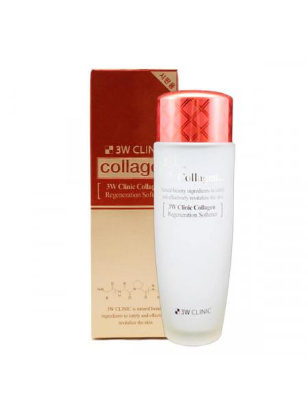Восстанавливающий тонер с коллагеном 3W CLINIC Collagen Regeneration Softener