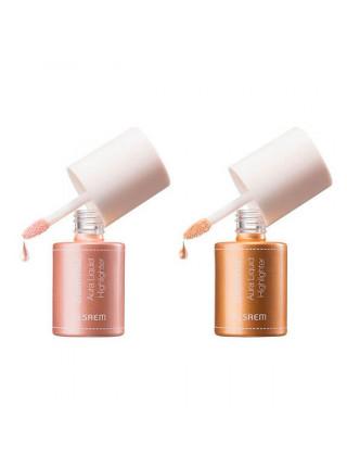 Жидкий хайлайтер с эффектом сияния The Saem Saemmul Aura Liquid Highlighter 01 Pink Light – светлое нежно-розовое сияние