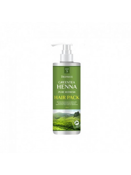 Маска для волос с зеленым чаем и хной Deoproce Greentea Henna Pure Refresh Hair Pack