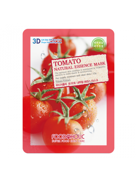 Тканевая 3D маска с томатом для увлажнения и улучшения цвета лица Tomato Natural Essence Mask