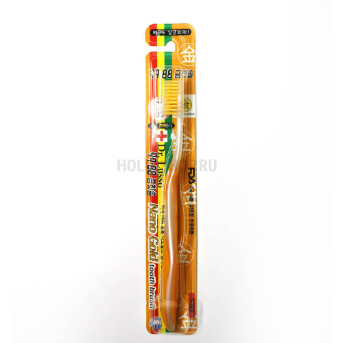 Зубная щётка с золотым напылением Dr. Lusso Nano Gold Toothbrush