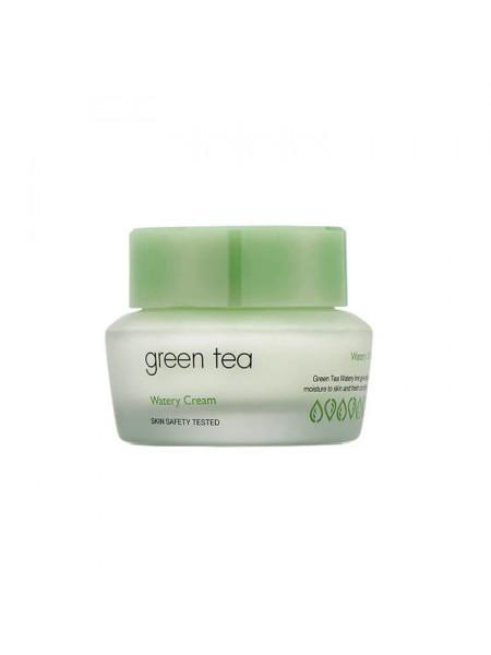 Крем с экстрактом зеленого чая для комбинированной и жирной кожи It's Skin Green Tea Watery Cream