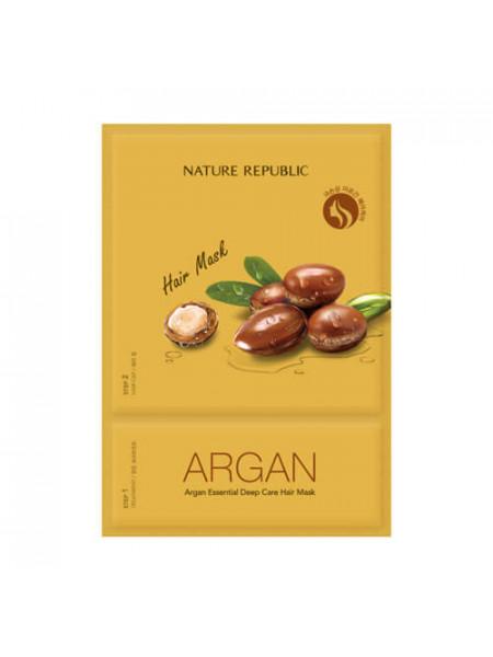 Маска для питания волос с маслом арганы Nature Republic Argan Essential Deep Care Hair Mask