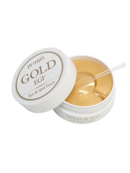 Гидро-гелевые патчи Petitfee premium gold egf eye patch