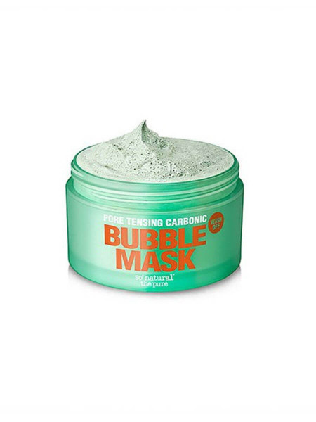 Глиняно-кислородная маска So Natural Pore Tensing Carbonic Bubble Pop Clay Mask