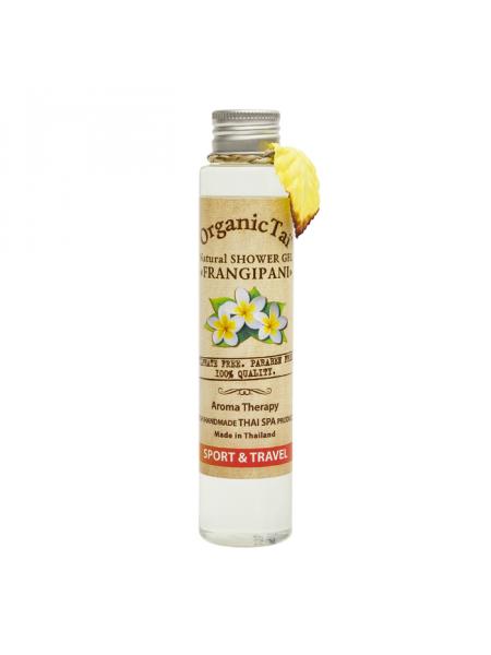 Безсульфатный гель для душа с экстрактом франжипани Natural Shower Gel Frangipani, 100 мл