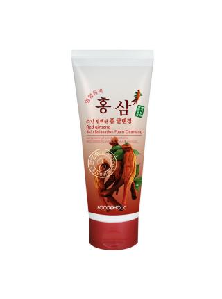 Очищающая пенка для умывания с экстрактом красного женьшеня Red Ginseng Skin Relaxing Foam Cleansing