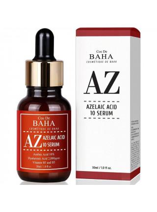 Противовоспалительная сыворотка с азелаиновой кислотой Cos De BAHA AZ Azelaic Acid 10 Serum