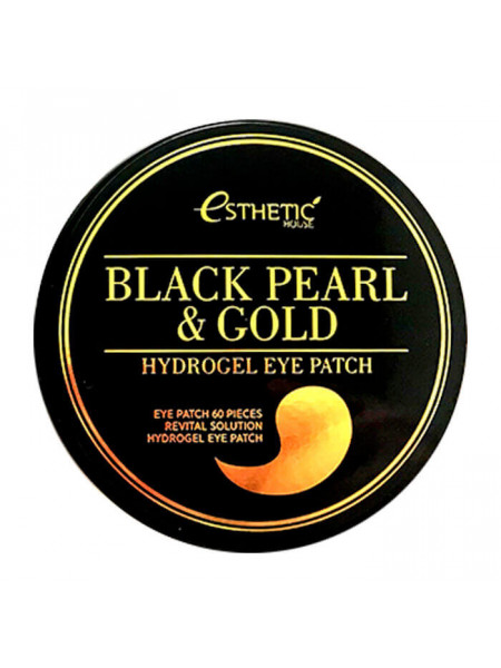 Гидрогелевые патчи с черным жемчугом и золотом Esthetic House Black Pearl Gold Hydrogel Eye Patch