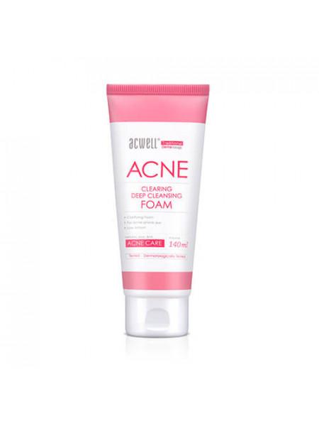 Противовоспалительная пенка для глубокого очищения Acwell Acne Clearing Deep Cleansing Foam