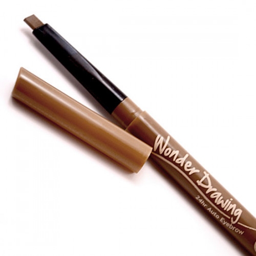 Автоматический карандаш для бровей с щеточкой Holika Holika Wonder Drawing 24hr Auto Eyebrow 04 Red Brown