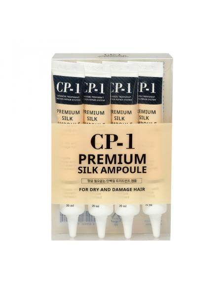 Набор несмываемых сывороток для волос с протеинами шелка CP-1 Premium Silk Ampoule