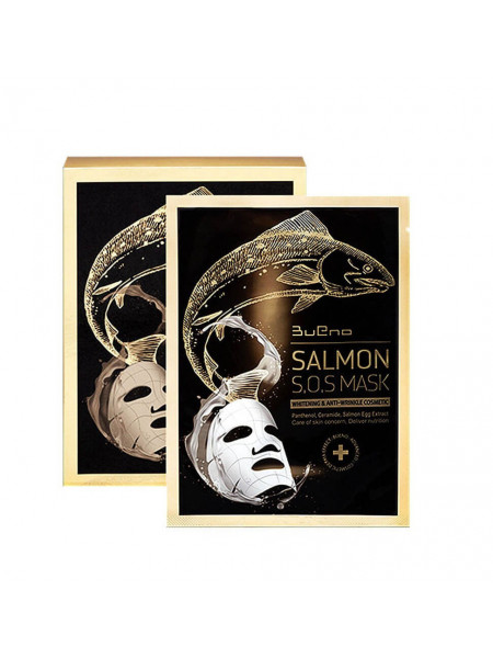 Тканевая лифтинг-маска с икрой лосося Bueno Salmon S.O.S Mask