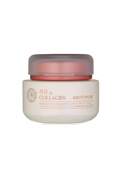 Лифтинг-крем для век с гранатом The Face Shop Pomegranate & Collagen Volume Lifting Eye Cream