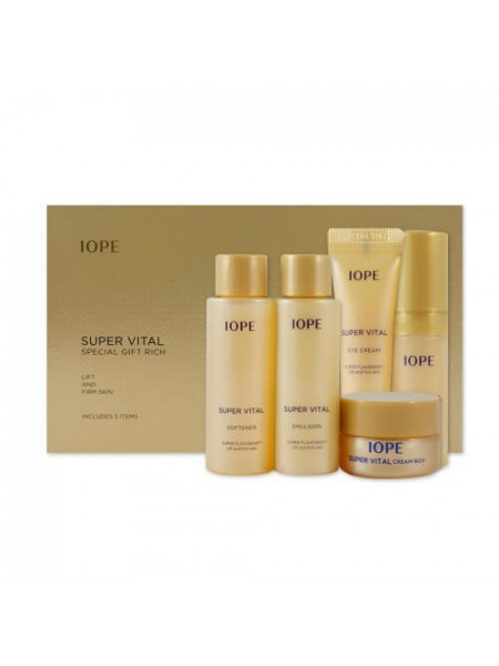 Антивозрастной увлажняющий набор миниатюр IOPE Super Vital Special Gift Rich 5 Items