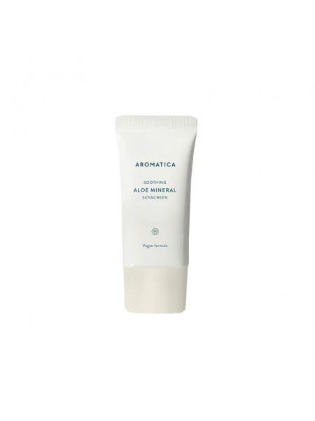 Веганский солнцезащитный крем с алоэ Aromatica Aloe Mineral Sunscreen SPF50/PA++++