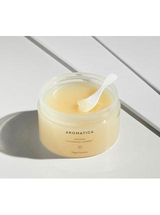 Очищающий щербет для лица с маслом канолы и маслом семян бабассу Aromatica Orange Cleansing Sherbet
