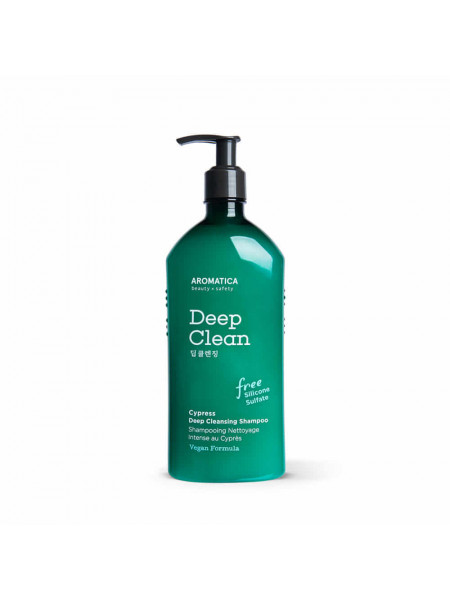 Бессульфатный шампунь для глубокого очищения с кипарисом AROMATICA Cypress Deep Cleansing Shampoo
