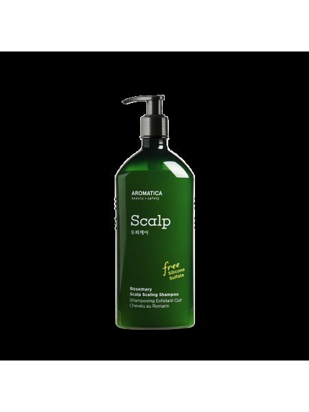 Бессульфатный укрепляющий шампунь с розмарином AROMATICA Rosemary Scalp Scaling Shampoo