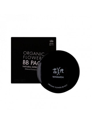 Кушон Whamisa Organic Flowers BB Pact Natural Expression (Natural Fermentation) № 21 LIGHT BEIGE