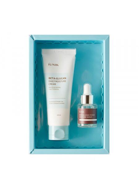 Набор для увлажнения кожи с бета-глюканом iUnik Beta Glucan Edition Skincare Set