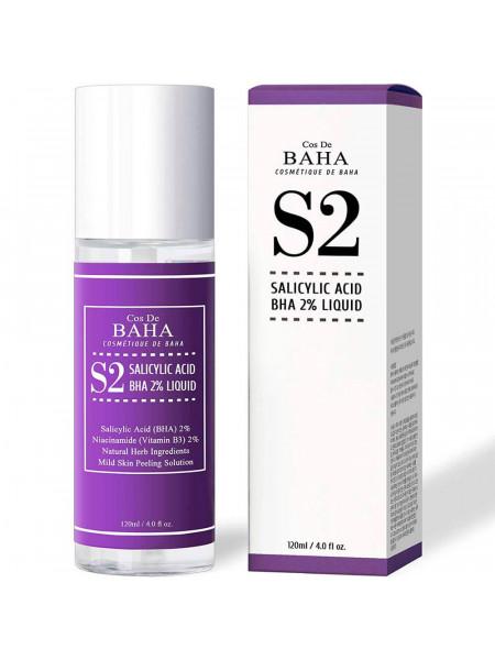 Тоник для лечения акне и сужения пор Cos De Baha Salicylic Acid BHA 2% Liquid