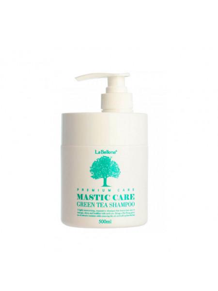 Восстанавливающий шампунь с зеленым чаем Gain cosmetics Lombok Mastic Greentea Shampoo