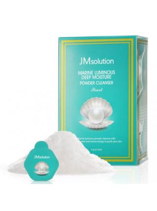 Увлажняющая энзимная пудра для умывания с жемчугом JMsolution Marine Luminous Deep Moisture Powder Cleanser Pearl — 1 шт. по 0,35 гр