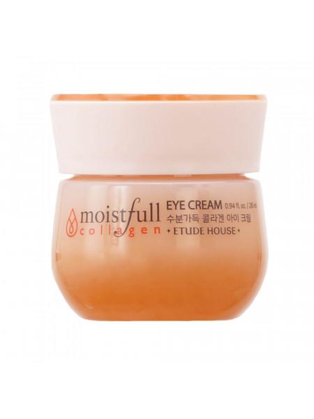 Омолаживающий крем с коллагеном для кожи вокруг глаз Etude House Moistfull Collagen Eye Cream
