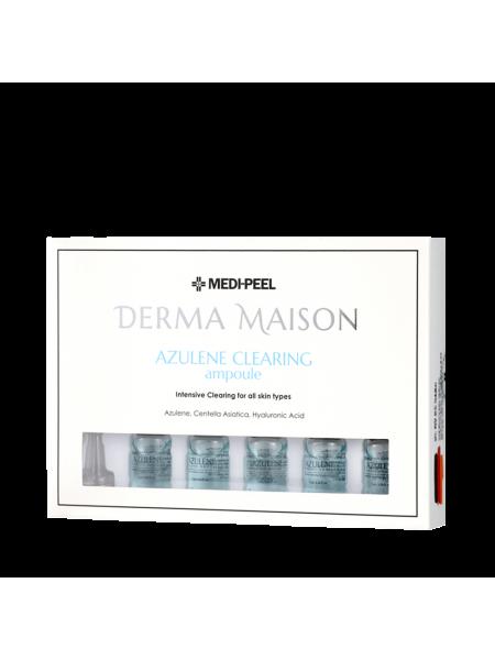 Концентрированные ампулы с азуленом Medi-Peel Derma Maison Azulene Clearing Ampoule