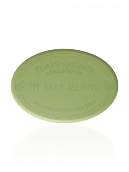 Мыло для проблемной кожи May Island 7 Days Secret Centella Cica Pore Cleansing Bar AHA/BHA/PHA